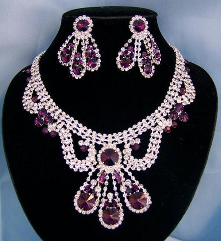 Divina Divas Pageant Jewelry Necklace and Earrings Set VI - CrownDesigners