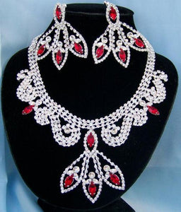 Divine Divas Pageant Jewelry Necklace and Earrings Set X - CrownDesigners