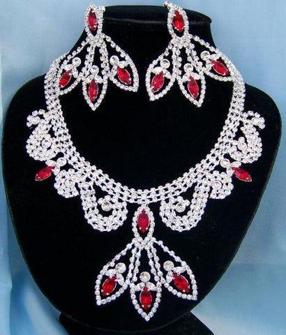 Divine Divas Pageant Jewelry Necklace and Earrings Set X, CrownDesigners