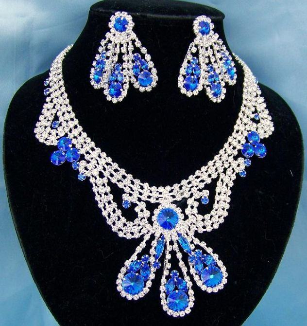 Divina Divas Pageant Jewelry Necklace and Earrings Set XIII - CrownDesigners