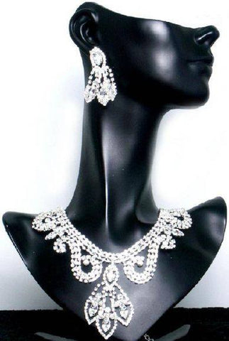 Divina Divas Pageant Jewelry Necklace and Earrings Set, CrownDesigners