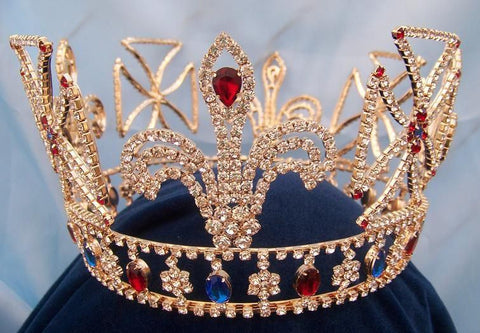 Royal King Louis Orleans Rhinestone gold Crown - CrownDesigners