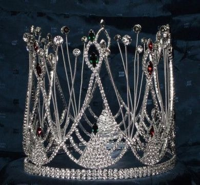 Rhinestone Full Carnaval King Crown - CrownDesigners