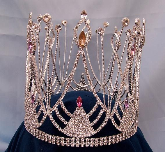 Rhinestone full Carnival King Crown, CrownDesigners
