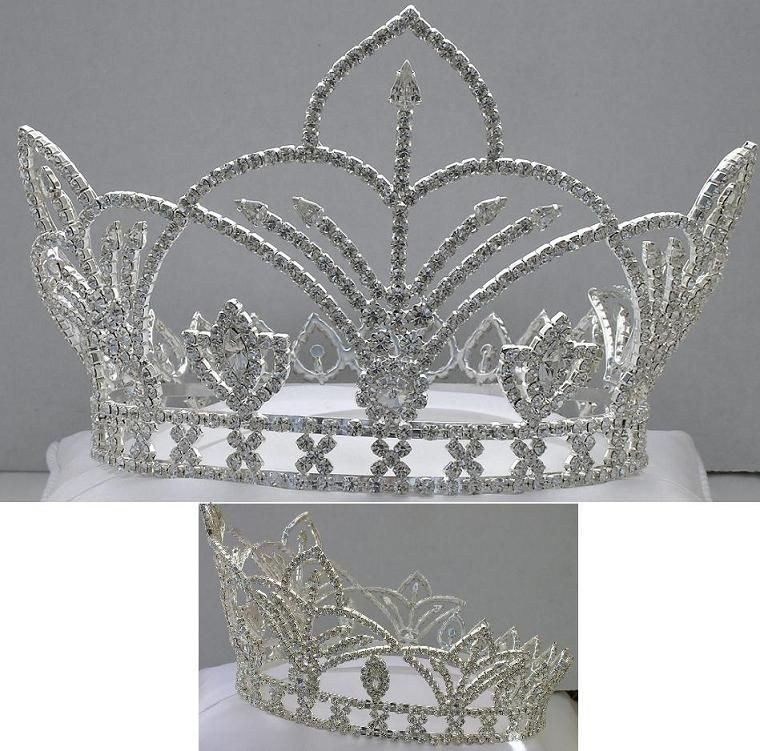 The Bourbon Street Full Rhinestone Unisex Silver Crown, CrownDesigners