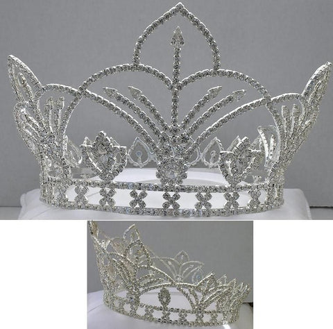 The Bourbon Street Full Rhinestone Unisex Silver Crown - CrownDesigners
