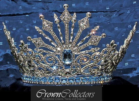 Beauty Pageant Rhinestone Queen Tsarina Alexandra Fedorovna Romanov Crown - CrownDesigners
