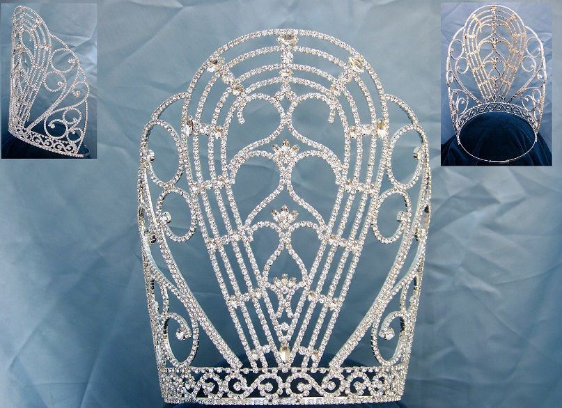 Miss Beauty Pageant Rhinestone Crown Tiara, CrownDesigners