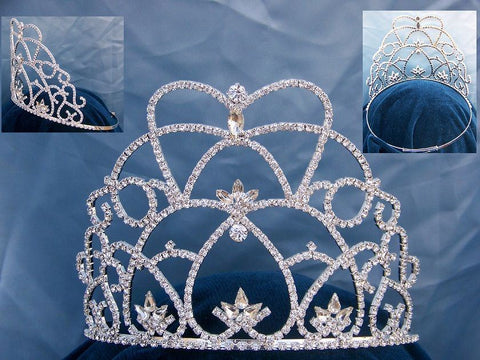Princess Loralee Rhinestone Pageant Adjustable Crown Tiara, CrownDesigners