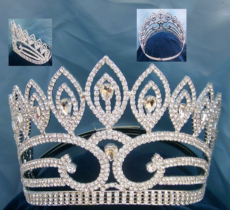 Duchess Adelle Rhinestone Adjustable Contoured Pageant Crown - CrownDesigners