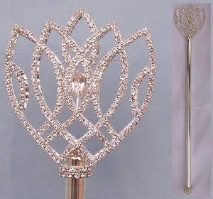 Imperial Rhinestone Silver Scepter - CrownDesigners