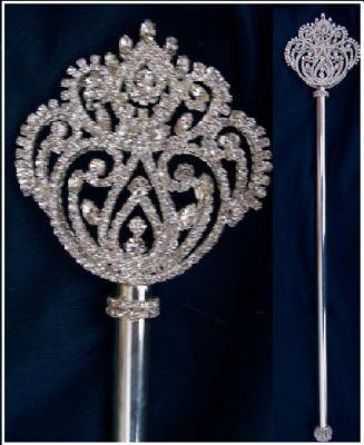 Imperial Rhinestone Silver Scepter, CrownDesigners