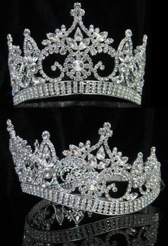 Continental adjustable Contoured Rhinestone Crown Tiara, CrownDesigners