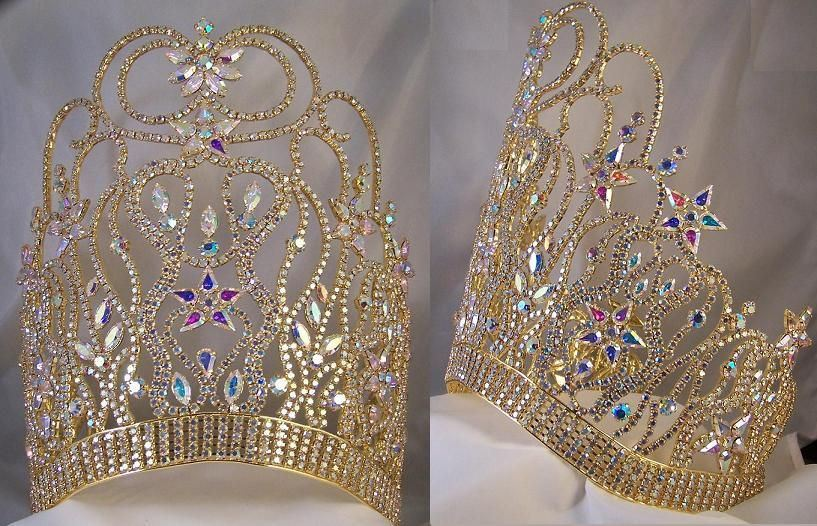 GOLD Supreme Diva Beauty Pageant Crown, CrownDesigners