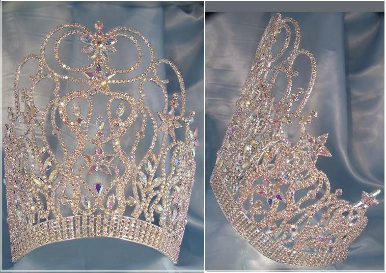 Silver Supreme Diva Beauty Pageant Crown - CrownDesigners