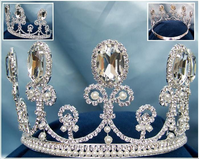 Parisian Rhinestone adjustable crown tiara - CrownDesigners