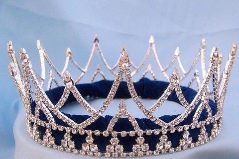 Rhinestone Regal King Full Rhinestone Men's Crown Silver The Ashbury - CrownDesigners