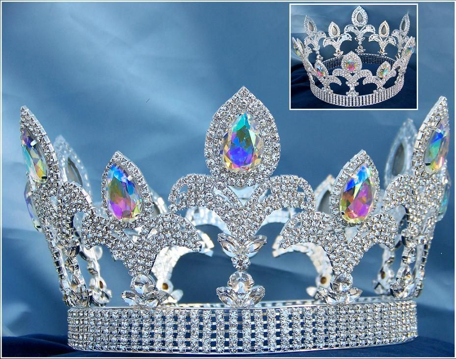 The Millennium Rhinestone Full Silver Aurora Borealis Crown ?