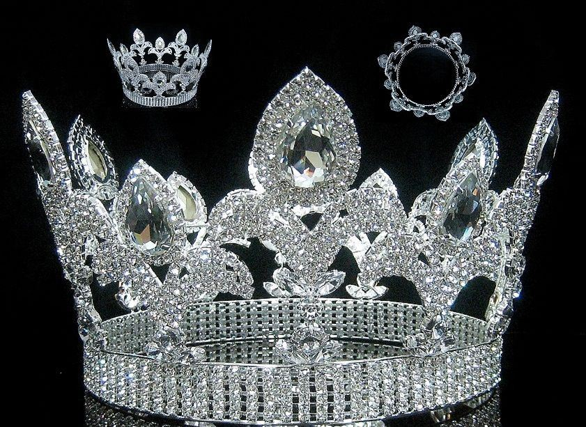The Millennium Rhinestone UNISEX Full Silver Crown - CrownDesigners