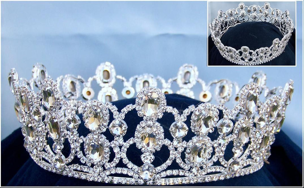 Loire Princess Rhinestone Full Crown - CrownDesigners