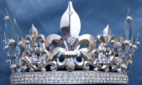 Men's Imperial Medieval Silver King Crown - CrownDesigners