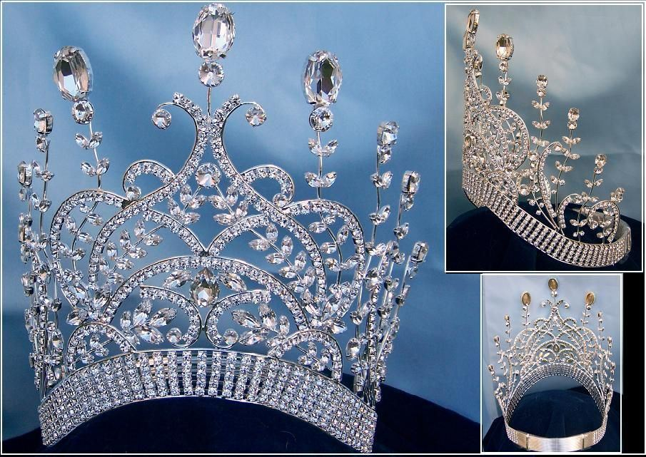 LARGE Leaey-Spray Contoured Crown Tiara 1905 English Crown, CrownDesigners
