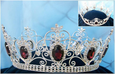 Rhinestone Men's Imperial Celtic Purple Jewelled Silver Crown - CrownDesigners
