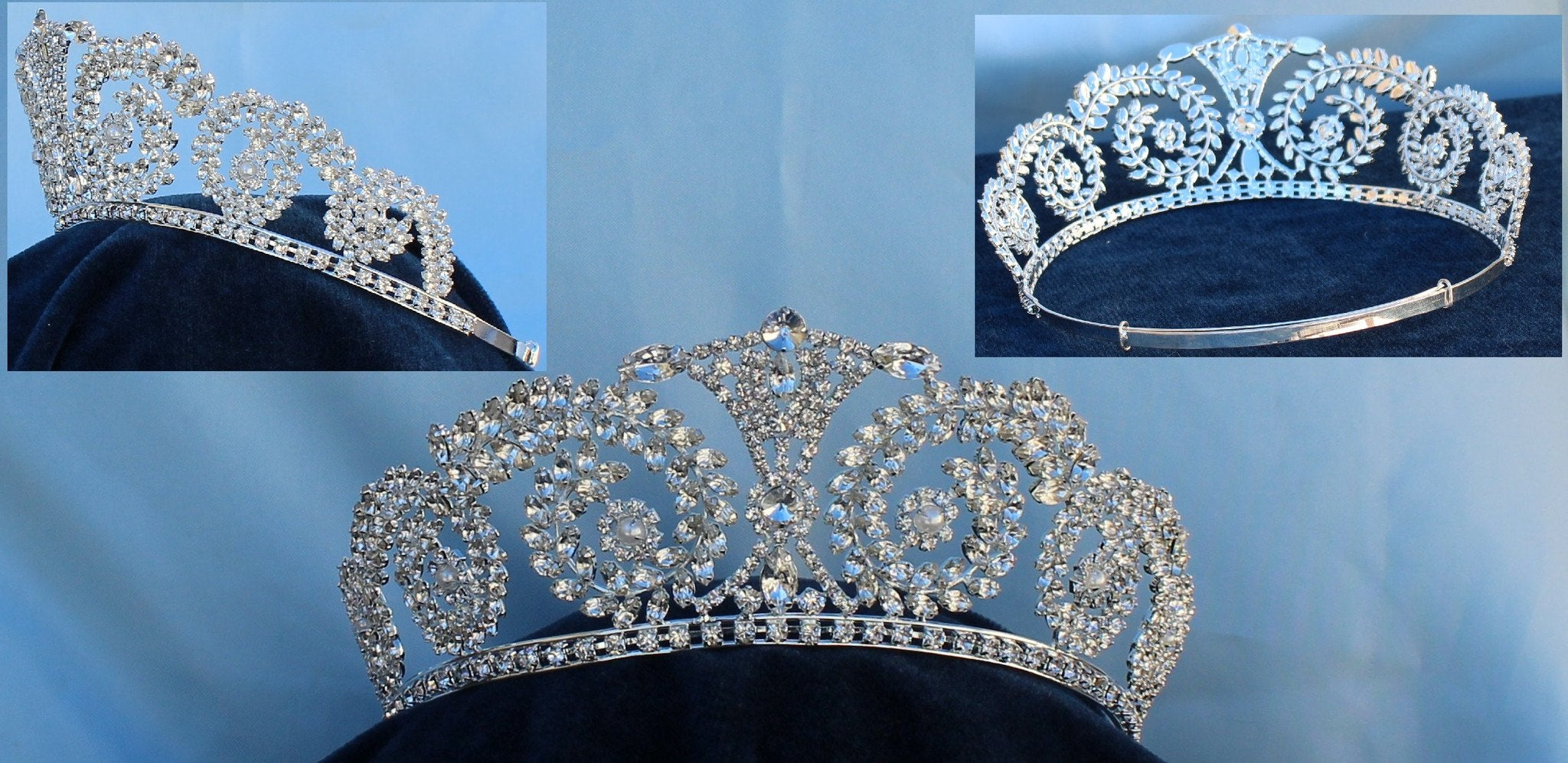 Bridal Beauty Queen Rhinestone The Queen of Castille Tiara - CrownDesigners
