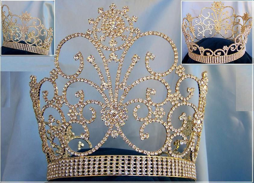 Beauty Pageant Rhinestone Butterfly Crown Gold Crown!, CrownDesigners