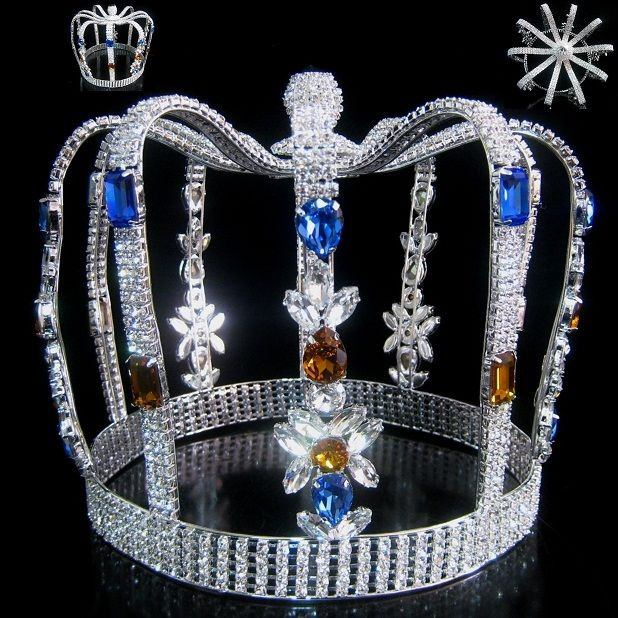 Carnival of Rio King's Rhinestone Men's FULL Crown, CrownDesigners