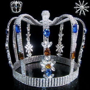 Carnival of Rio King's Rhinestone Men's FULL Crown - CrownDesigners