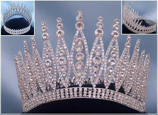 Queen of The 7 Seas RHINESTONE BEAUTY PAGEANT RHINESTONE FULL SILVER - CrownDesigners
