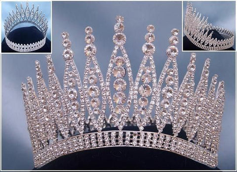 Queen of The 7 Seas RHINESTONE BEAUTY PAGEANT RHINESTONE FULL SILVER, CrownDesigners