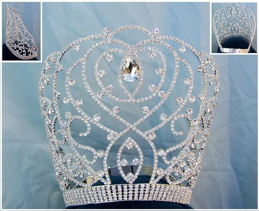 National Beauty Pageant Rhinestone Adjustable Crown Tiara - CrownDesigners