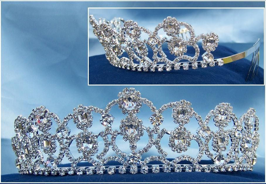 The Diamond Royal Empress Rhinestone Beauty Pageant Queen, Princess, Crown Tiara - CrownDesigners