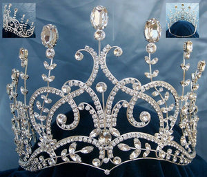 LARGE Leaey-Spray Tiara 1905 English Pageant Crown - CrownDesigners