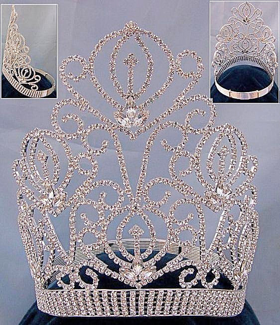 Beauty Pageant Queen Adjustable Rhinestone Tiffany Crown - CrownDesigners