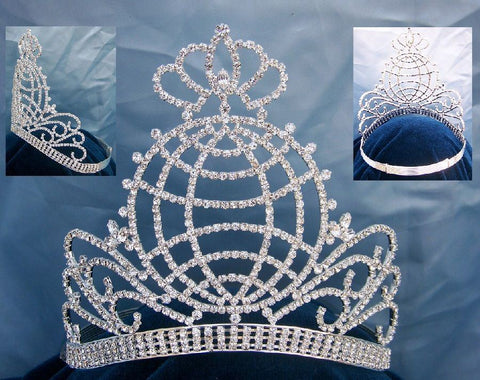 Beauty Pageant Rhinestone Queen Princess Crown Tiara, CrownDesigners