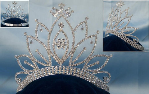 Miss Beauty Queen pageant Contoured crown tiara - CrownDesigners