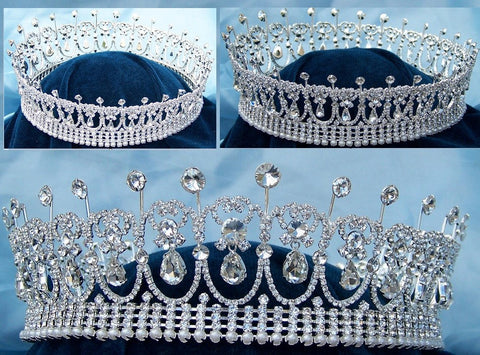 Diana Full Silver Crown - CrownDesigners