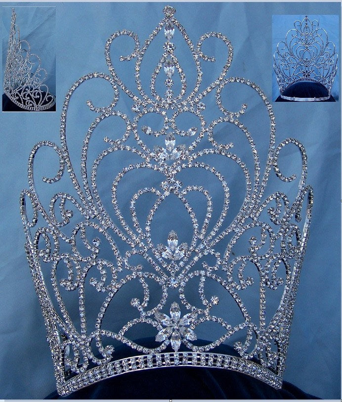 Rhinestone Miss Beauty Queen Pageant Crown Tiara, CrownDesigners