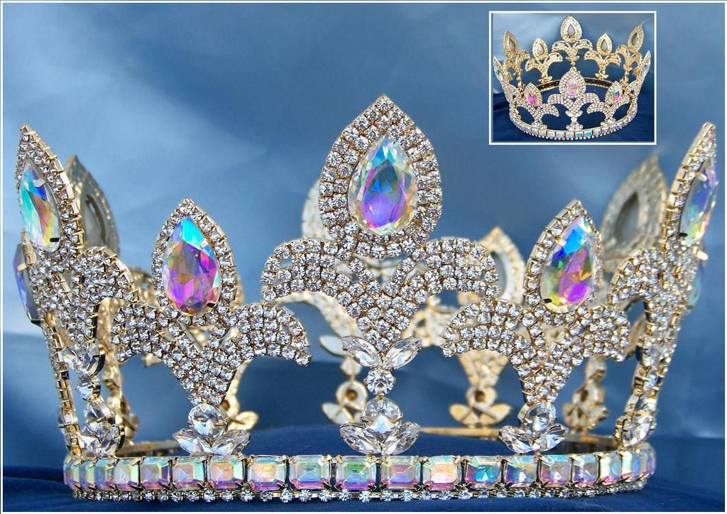 Majestic Imperial Palace Unisex Rhinestone Crown, Silverado Edition, CrownDesigners