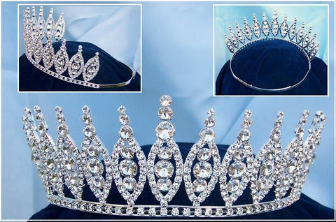 Queen of The Seven Seas Rhinestone Beauty Pageant Crown Tiara, CrownDesigners