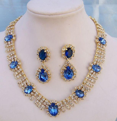 Deauville Beauty Pageant Queen Princes rhinestone necklace set, CrownDesigners