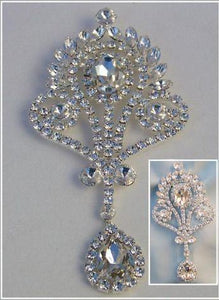 Deauville Beauty Pageant Queen Princess Rhinestone Brooch - CrownDesigners