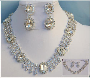 Deauville Beauty Pageant Queen Princes rhinestone necklace set - CrownDesigners