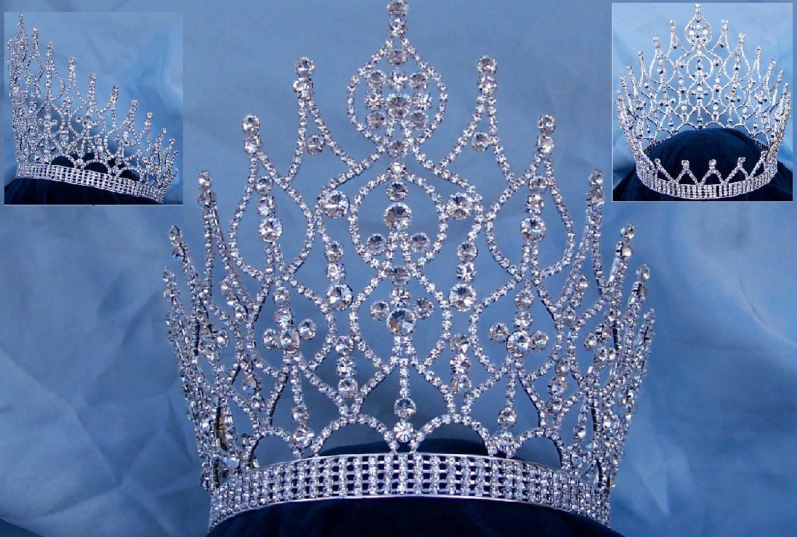 Majestic Rhinestone Full Crown - CrownDesigners