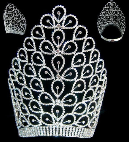 Beauty pageant Rhinestone The Exalted Empress Crown Tiara - CrownDesigners