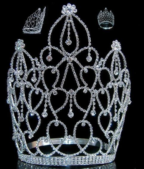 Beauty Pageant Royal Empress Rhinestone Crown Tiara, CrownDesigners