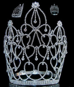 Beauty Pageant Royal Empress Rhinestone Crown Tiara - CrownDesigners